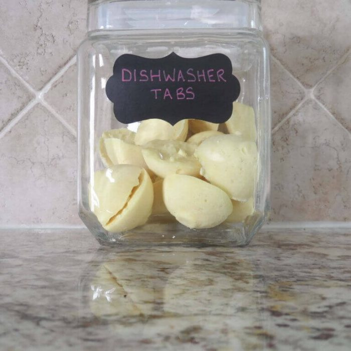 DIY kitchen cleaners - Homemade Dishwasher Tabs